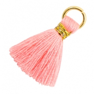 Tassels 1.8cm Gold-Shell Pink