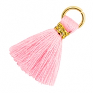 Tassels 1.8cm Gold-Candy Pink