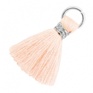 Tassels 1.8cm Silver-Almond Cream Peach