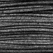 Waxed cord metallic 2.0mm Anthracite Black