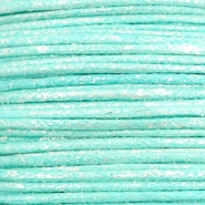 Waxed cord metallic 0.5mm Turquoise Blue