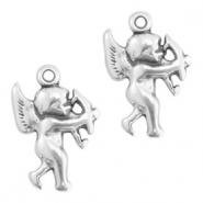 DQ European metal charms angel Antique Silver (nickel free)