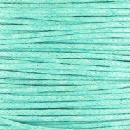 Waxed cord 1.0mm Turquoise green
