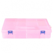 Jewellery display 10 compartment storage box Pink