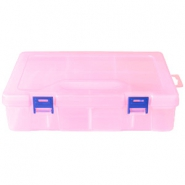 Jewellery display 8 compartment/2 layers storage box Pink