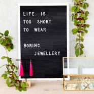 Jewellery display letter board 30x45cm White