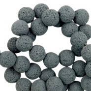 Katsuki beads/Lava 8mm Graphite Gray