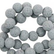 Katsuki beads/Lava 6mm Mirage Gray