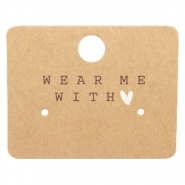 "Jewellery cards ""Wear Me With ♥"" Brown"