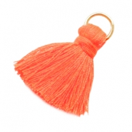 Small tassels with ring Fluor orange