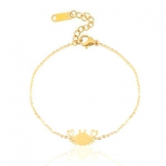Stainless steel bracelets crab Gold