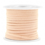 Trendy flat cord suede style 3mm 3mm Salmon Rose