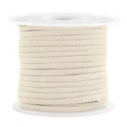 Trendy flat cord suede style 3mm 3mm Sand Beige