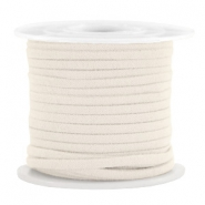 Trendy flat cord suede style 3mm 3mm Off White