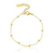 Stainless steel bracelets ball chain Gold