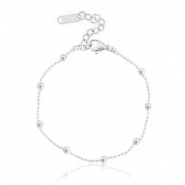 Stainless steel bracelets ball chain Silver