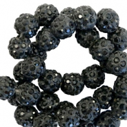 Rhinestone beads 10mm Black