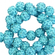 Rhinestone beads 10mm Light Blue