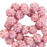 Rhinestone beads 10mm Pink