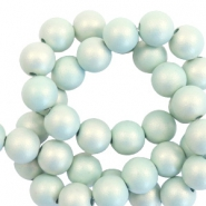 10 mm acrylic beads matt Light Turquoise-Pearl Coating