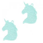 Bohemian charms unicorn Fresh Mint Green