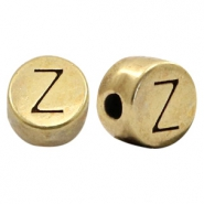 DQ European metal letter beads Z Antique Bronze (nickel free)