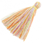 Tassels basic 3cm Multicolour Rainbow Yellow Gold
