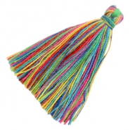 Tassels basic 3cm Multicolour Rainbow Yellow Green