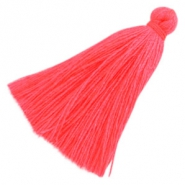 Tassels basic 3cm Hot Coral Pink