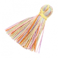 Tassels basic 2cm Multicolour Rainbow Yellow Gold
