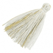Tassels basic goldline 3cm Light Grey