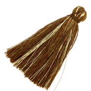 Tassels basic goldline 3cm Dark Chcocolate Brown