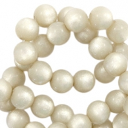 Super Polaris beads round 8 mm Light Silver Shade