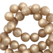 Super Polaris beads round 8 mm Taupe Brown