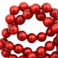 Super Polaris beads round 8 mm Ruby Red