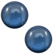7 mm classic Polaris Elements cabochon soft tone shiny Dark Blue