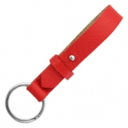 Cuoio key chain Clear Bright Red