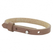 Leather Cuoio kids bracelet 8mm for 12mm cabochon Medium Brown