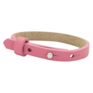Leather Cuoio kids bracelet 8mm for 12mm cabochon Peonia Pink