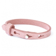 Leather Cuoio kids bracelet 8mm for 12mm cabochon Soft Misty Rose