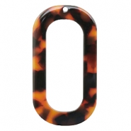 Resin pedants oblong oval 56X30mm Red-Brown