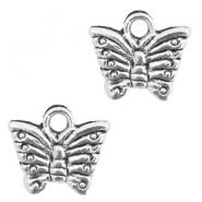 Metal charms butterfly Antique Silver