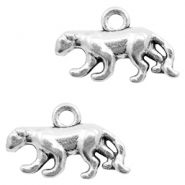 Metal charms Panther Antique Silver