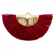 Tassels charm Gold-Port Red