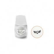 ImpressArt design stamps Heart with Wings 6mm Silver