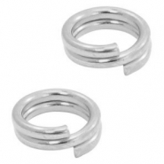 DQ European metal findings split ring 5mm Antique Silver (nickel free)