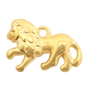 DQ European metal charms lion Gold (nickel free)