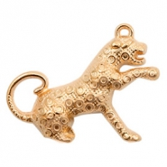 DQ European metal charms leopard Rose Gold (nickel free)