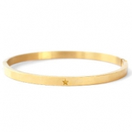 Stainless steel bracelets with star Gold