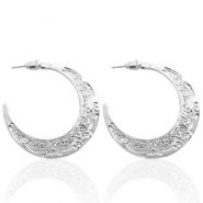 Trendy earrings Silver